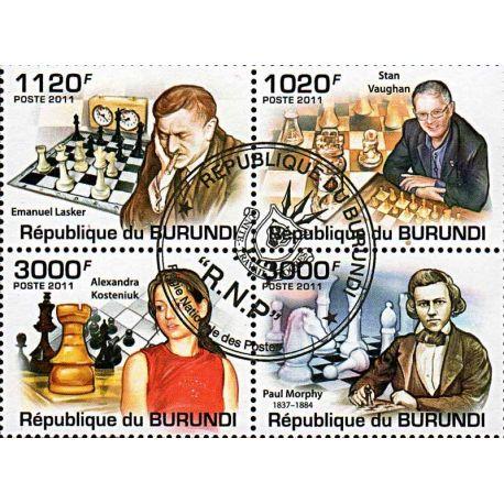 Timbres thèmatiques Burundi N° 1269/1272 Oblitérés