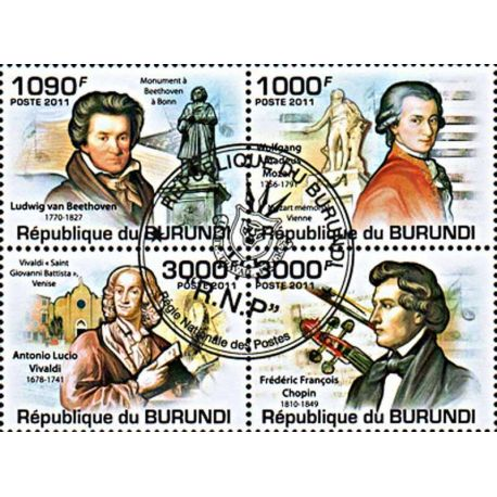 Timbres thèmatiques Burundi N° 1273/1276 Oblitérés