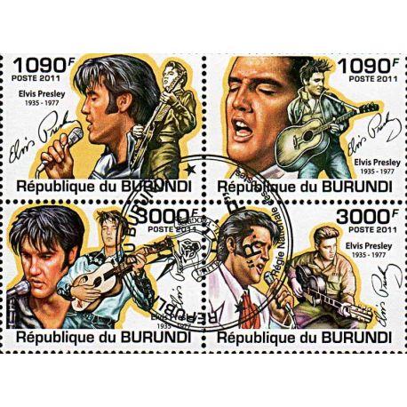 Timbres thèmatiques Burundi N° 1281/1284 Oblitérés