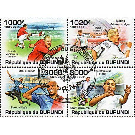 Timbres thèmatiques Burundi N° 1285/1288 Oblitérés