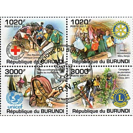 Timbres thèmatiques Burundi N° 1289/1292 Oblitérés