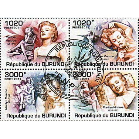 Timbres thèmatiques Burundi N° 1293/1296 Oblitérés