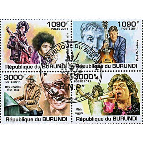 Timbres thèmatiques Burundi N° 1297/1300 Oblitérés