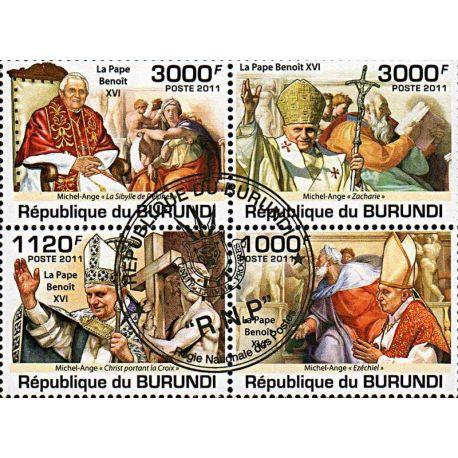 Timbres thèmatiques Burundi N° 1305/1308 Oblitérés