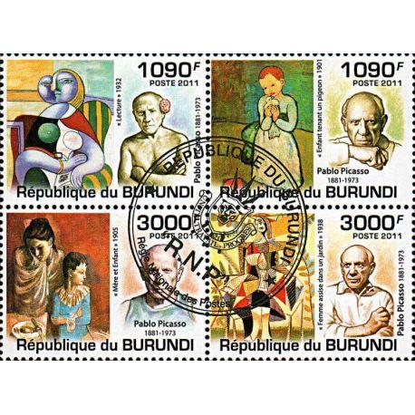 Timbres thèmatiques Burundi N° 1309/1312 Oblitérés