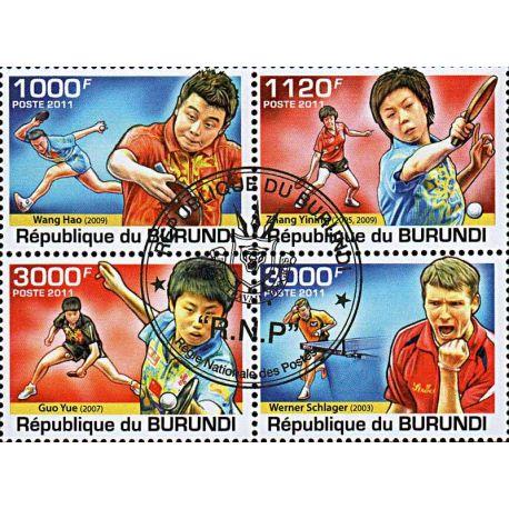 Timbres thèmatiques Burundi N° 1313/1316 Oblitérés