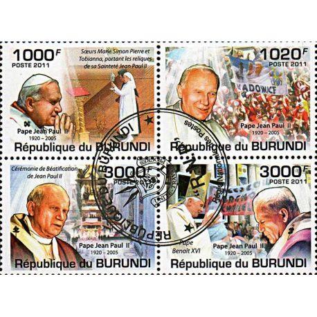 Timbres thèmatiques Burundi N° 1317/1320 Oblitérés