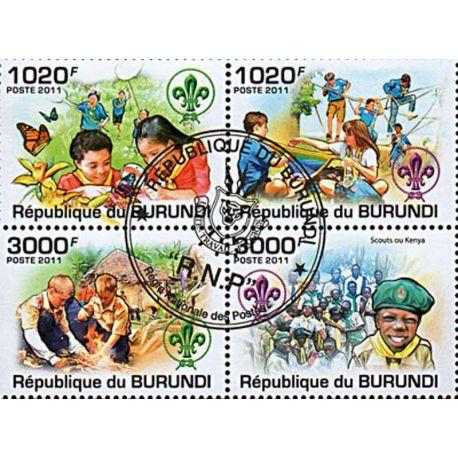 Timbres thèmatiques Burundi N° 1325/1328 Oblitérés