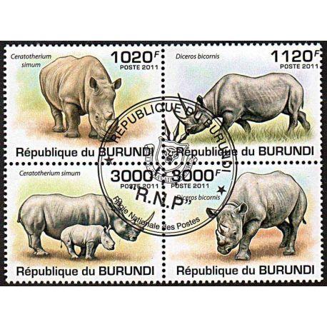 Timbres thèmatiques Burundi N° 154a Oblitérés