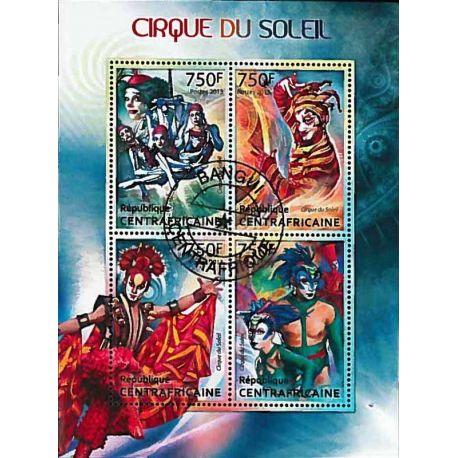 Timbres thèmatiques Centrafrique Cirque Oblitérés