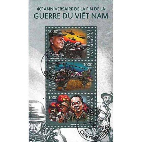 Timbres thèmatiques Centrafrique Guerre du Vietnam Oblitérés