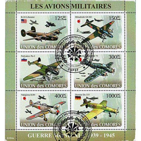 Timbres thèmatiques Comores N° 1213/1218 Oblitérés