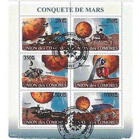 Timbres thèmatiques Comores N° 1231/1236 Oblitérés