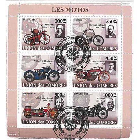 Timbres thèmatiques Comores N° 1261/1266 Oblitérés