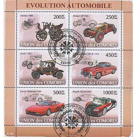 Timbres thèmatiques Comores N° 1279/1284 Oblitérés