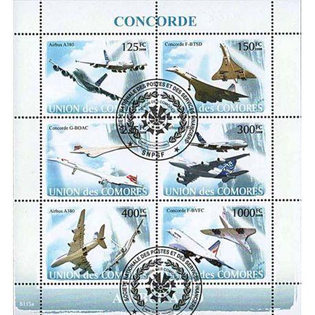 Timbres thèmatiques Comores N° 1285/1290 Oblitérés