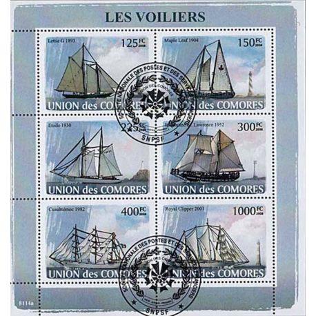 Timbres thèmatiques Comores N° 1291/1296 Oblitérés