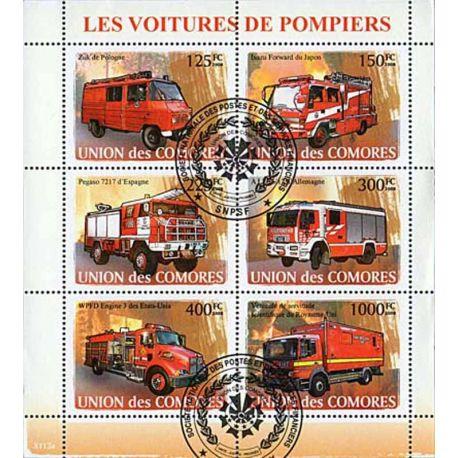 Timbres thèmatiques Comores N° 1297/1300 Oblitérés