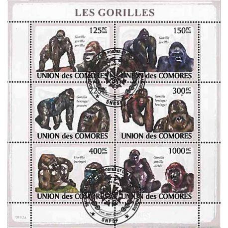 Timbres thèmatiques Comores N° 1471/1476 Oblitérés
