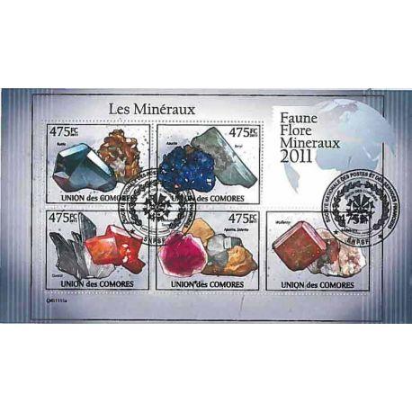 Timbres thèmatiques Comores N° 2195/2199 Oblitérés