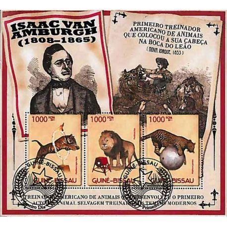 Timbres thèmatiques Guinée Bissau Cirque Oblitérés