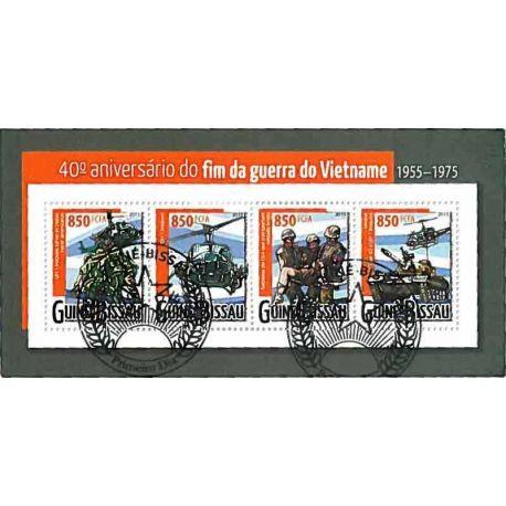 Timbres thèmatiques Guinée Bissau Guerre du Vietnam Oblitérés