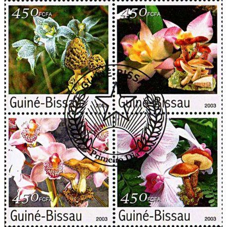 Timbres thèmatiques Guinée Bissau N° 1058/1061 Oblitérés