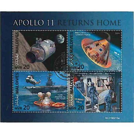 Timbres thèmatiques Maldives Apollo Oblitérés
