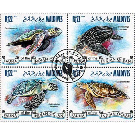 Timbres thèmatiques Maldives N° 4043/46 Oblitérés