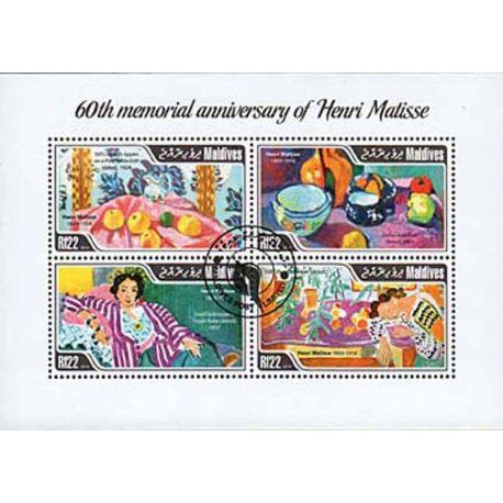 Timbres thèmatiques Maldives N° 4337/40 Oblitérés