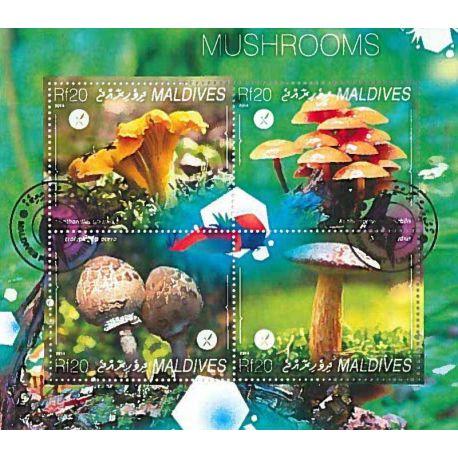 Timbres thèmatiques Maldives N° 4489/4492 Oblitérés