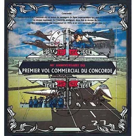 Timbres thèmatiques Niger Concorde Oblitérés
