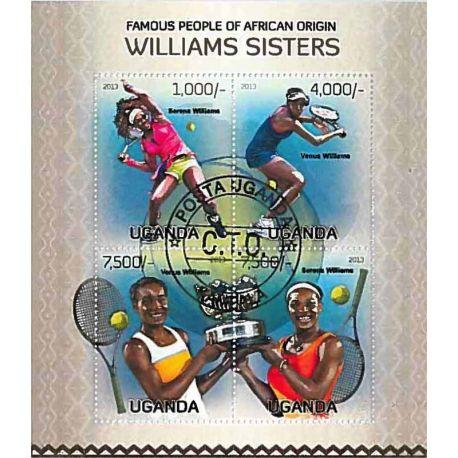 Timbres thèmatiques Ouganda Tennis Oblitérés