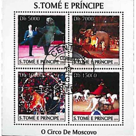 Timbres thèmatiques Saint Thomas Et Prince Cirque Oblitérés