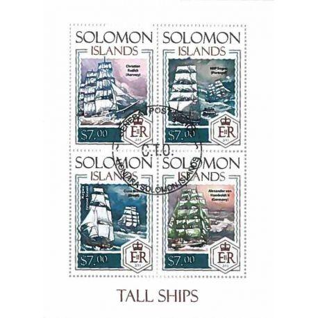 Timbres thèmatiques Salomon Bateaux voiliers Oblitérés