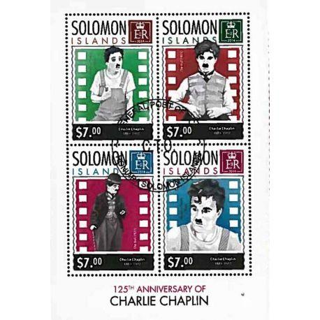 Timbres thèmatiques Salomon Charlie Chaplin Oblitérés