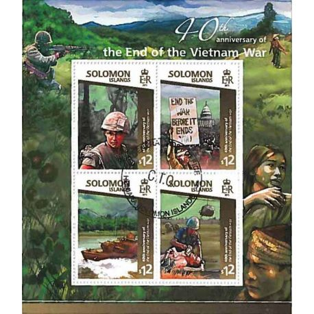 Timbres thèmatiques Salomon Guerre du Vietnam Oblitérés