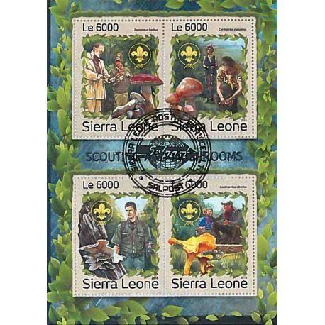 Timbres thèmatiques Sierra Leone Champignons Oblitérés