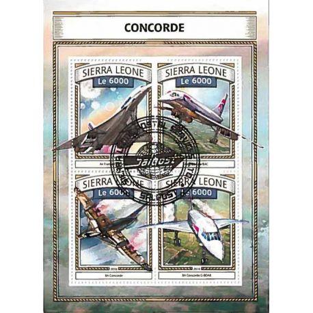 Timbres thèmatiques Sierra Leone Concorde Oblitérés