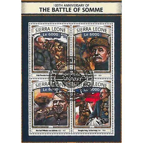 Timbres thèmatiques Sierra Leone Première guerre mondiale Oblitérés