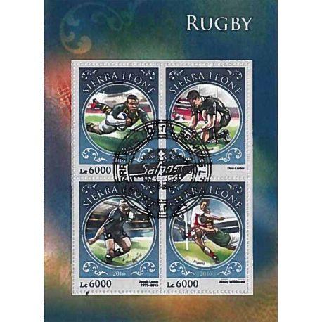 Timbres thèmatiques Sierra Leone Rugby Oblitérés