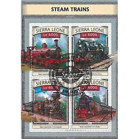 Timbres thèmatiques Sierra Leone Trains Oblitérés