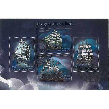 Timbres thèmatiques Togo Bateaux voiliers Oblitérés