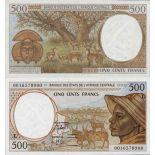 Schone Banknote Gabon Pick Nummer 401 - 500 FRANC 1993