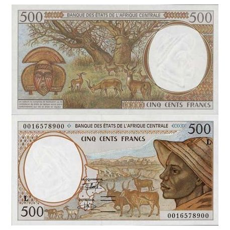 Billets de collection Billet de banque Afrique Centrale Gabon Pk N° 401 - 500 Francs Billets du Gabon 9,50 €