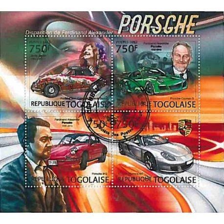 Timbres thèmatiques Togo Voitures Porsche Oblitérés