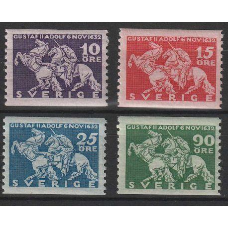 Timbre collection Suède N° Yvert et Tellier 224/227 Neuf sans charnière