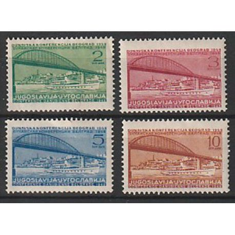 Timbre collection Yougoslavie N° Yvert et Tellier 495/498 Neuf sans charnière
