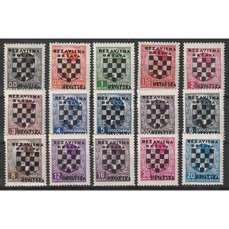 Timbre collection Croatie N° Yvert et Tellier 9/23 Neuf sans charnière