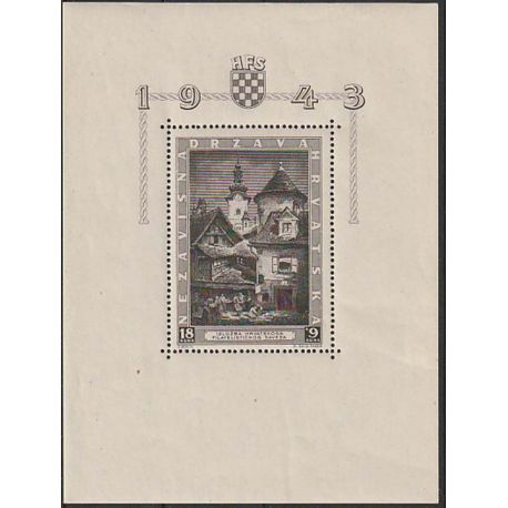 Timbre collection Croatie N° Yvert et Tellier BF 5 Neuf sans charnière
